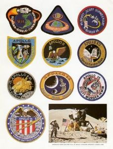 Vintage Apollo Emblem Sticker Sheet Apollo 7-16